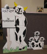 Holy cow! Birthday sign