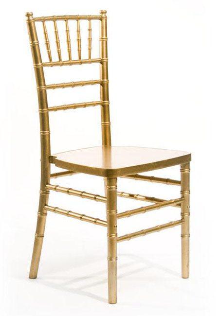 gold chivari chair