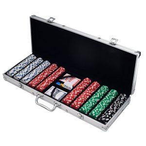 Poker chips in case